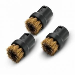 Juego de cepillos redondos y metalicos para limpiadoras de vapor