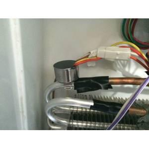 Localización del termostato de seguridad
