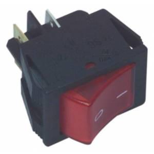 Interruptor universal color rojo